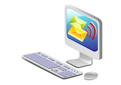 Stock Illustration of computer mobility, internet