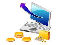 computer mobility, internet - stock illustration
