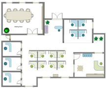 Office layout Stock Illustration