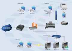 wan diagram - stock illustration