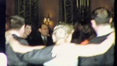 DANCING THE HORA Jewish Wedding 1955 (Vintage Old Film Home Movie Footage) 5549 Stock Footage