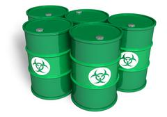Poisonous barrels - stock illustration