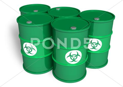 Stock Illustration of Poisonous barrels