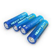 Stock Illustration of Four AA batteries