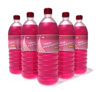 Set of raspberry drinks in plastic bottles - stock illustration