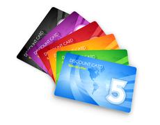 Set of discount cards Stock Illustration