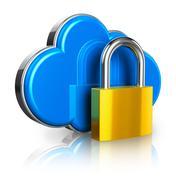 Cloud computing security concept Stock Illustration