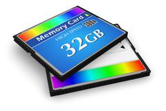 CompactFlash memory cards - stock illustration