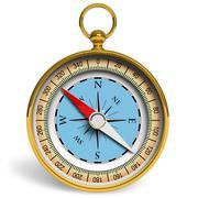 Golden compass Stock Illustration