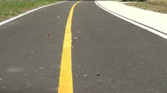 Bicycle road in park Stock Footage