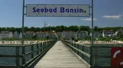 Seaside Resort Town Bansin on Usedom Island - Baltic Sea, Northern Germany Stock Footage