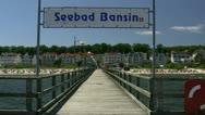 Seaside Resort Town Bansin on Usedom Island - Baltic Sea, Northern Germany Stock Footage