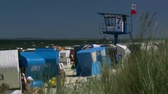Beautiful Beach in Bansin on Usedom Island - Baltic Sea, Northern Germany Stock Footage