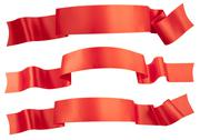 Stock Photo of elegance red ribbon banner collection