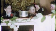 BAR MITZVAH BOY Head Table Jewish 1960 (Vintage Old Film Home Movie) 5563 Stock Footage