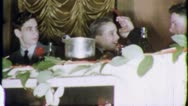BAR MITZVAH BOY Head Table Jewish 1960 (Vintage Old Film Home Movie) 5563 Stock Footage
