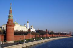 Stock Photo of road and kremlin