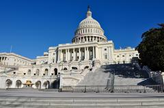 capital hill building in washington dc - stock photo