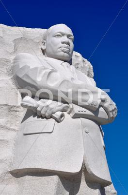 Stock photo of martin luther king statue monument in washington dc