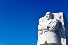 Martin luther king statue monument in washington dc Stock Photos