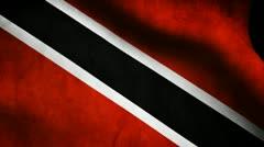 Trinidad Tobago flag. Stock Footage