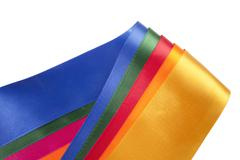 Stock Photo of colorful ribbon assortment