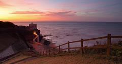 sunset at jacobs ladder - stock photo