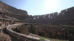 History & culture, Roman Colosseum inside wide shot Stock Footage