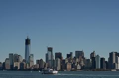 New York from Liberty Island - stock photo