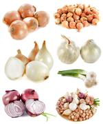 Group of onions Stock Photos