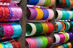 bangles for sale in india - stock photo