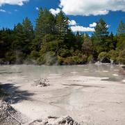 Geothermal mud pool Stock Photos