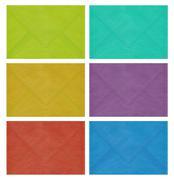 colored envelopes - stock photo