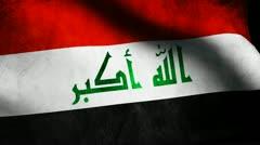 Irak flag Stock Footage