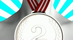 Concept animation Silver medal winner, matte included. Stock Footage