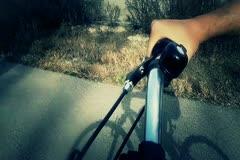 Bicycle Handlebars Rider POV - stock footage