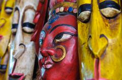 Hindu intialainen maski seinään Kuvituskuvat
