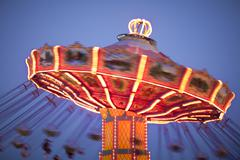 Carnival Swing Ride At Midway Stock Photos