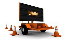 WWW Under Construction Sign - stock illustration