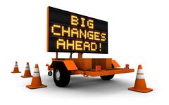 Big Changes - Construction Sign Message - stock illustration