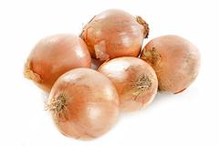 yellow onions - stock photo