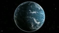 EARTH VIEW FROM SPACE CENTERED Stock Footage