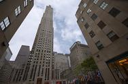 Stock Photo of Rockerfeller Building at Rockerfeller Center