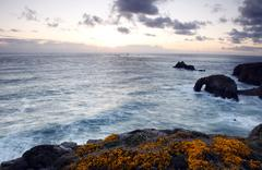 lands end,cornwall,from a cliff top - stock photo