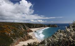 Stock Photo of porthcurno bay