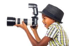 Lapsi valokuvaaja Kuvituskuvat