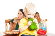 Child healthy eating Stock Photos