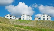 Stock Photo of Newly built white houses