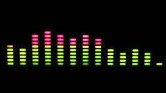 music graphic equalisers spectrum 4k - stock footage