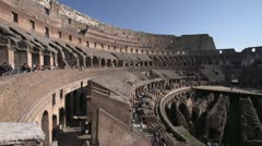 History & culture, Roman Colosseum inside wide shot - stock footage